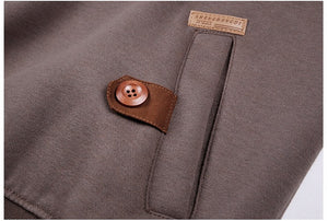 Stylish Sweatshirt with Buttons - MAROON SCARF - men's clothing