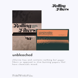 Rolling Filters King Size Slim Unbleached Watermarked Indian Made Rolling Papers