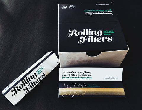 Rolling Filters King Size Slim Unbleached Watermarked Indian Made Rolling Papers ( 1 to 100 cartons)