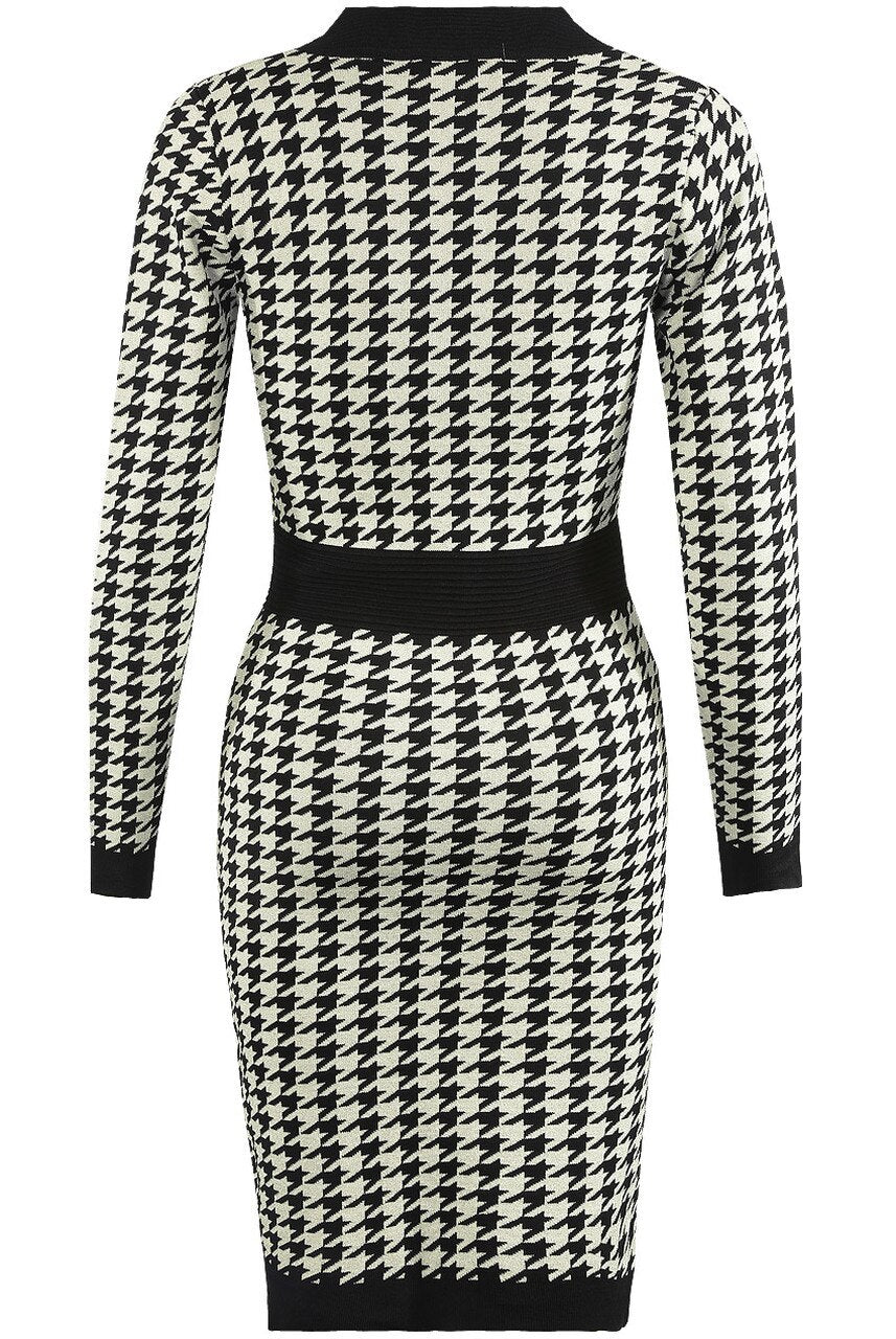 Knitted Dogtooth Dress