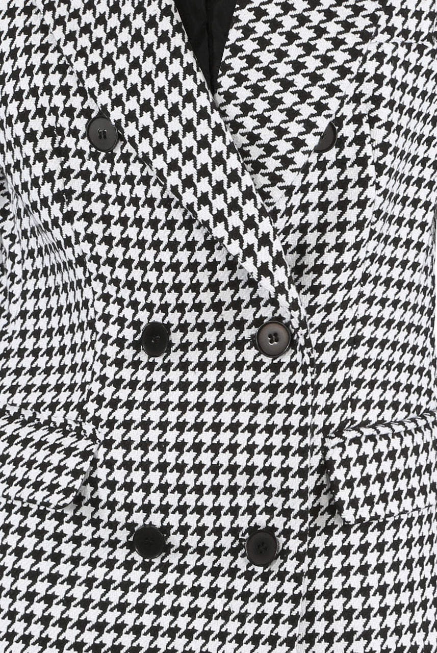 Oversized Dogtooth Blazer