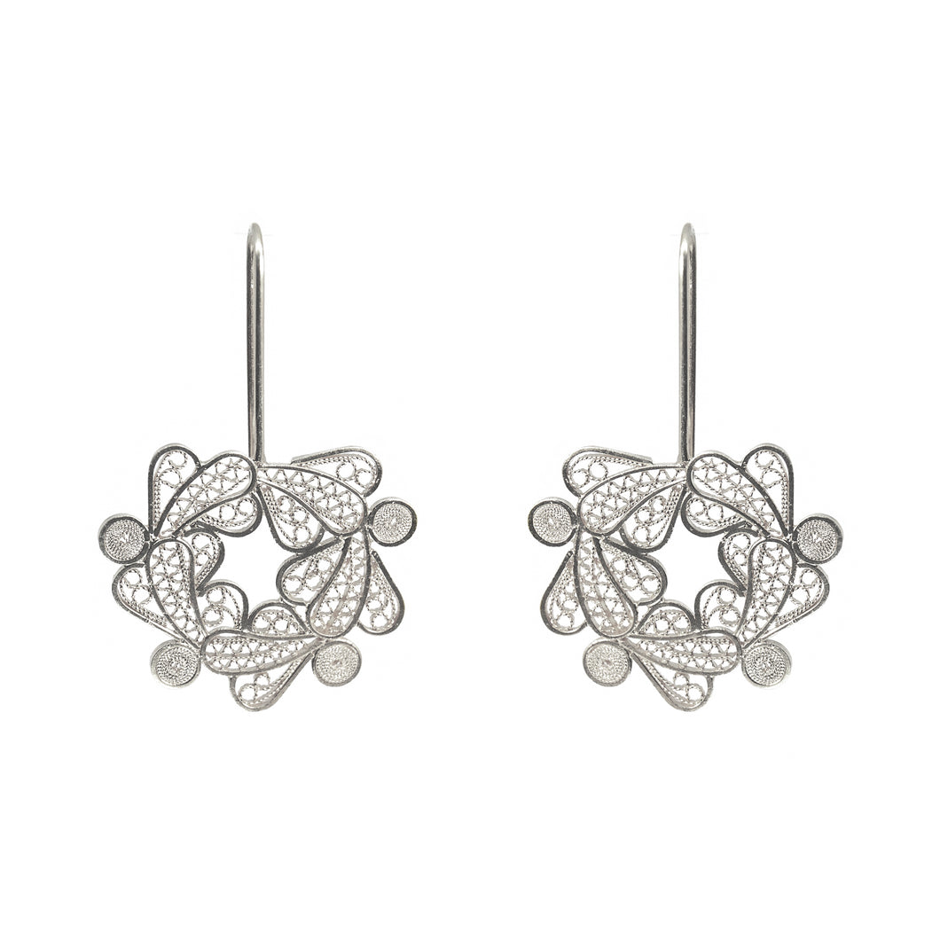 Botanical Wreath Filigree Earrings