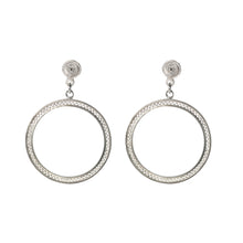 Minimalistic Filigree Zig Zag Circles Earrings