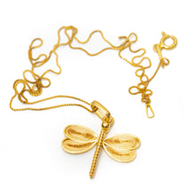Dragonfly Filigree Pendant -Silver-
