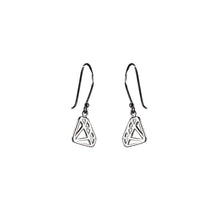 Load image into Gallery viewer, Small Diamond Shape Dangle Silver Earrings