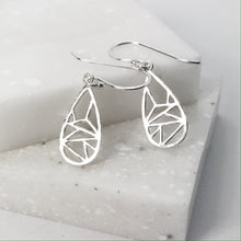 Load image into Gallery viewer, Small Drop Dangle Geometric Earrings