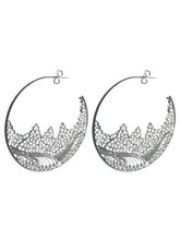 Silver Filigree Hoops Earrings