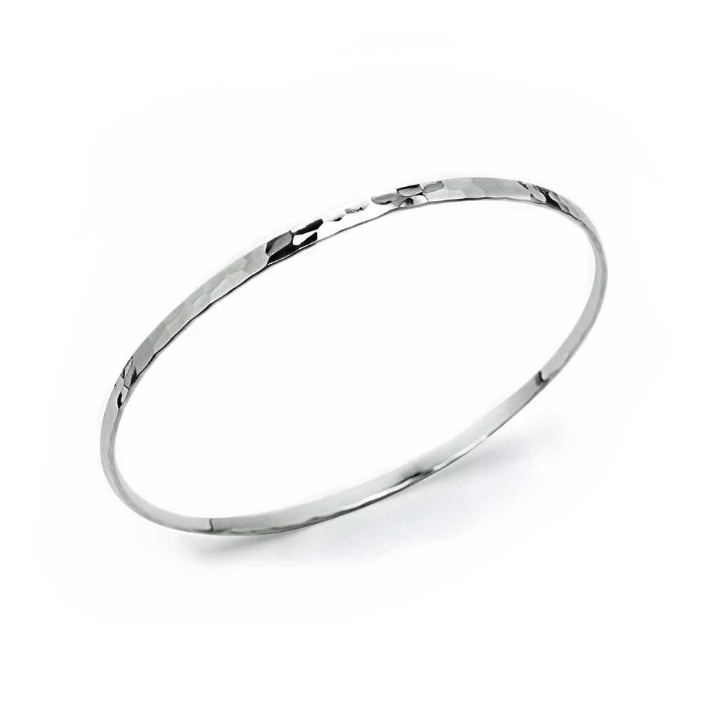 Sterling Silver Hammered Bangle Bracelet