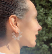 Load image into Gallery viewer, Filigree Mandala Hoops Earrings