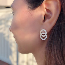Alexa Dainty Open circles  Filigree Earrings