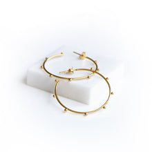 Load image into Gallery viewer, Gold Plated Sterling Silver Galaxy Hoop Earrings