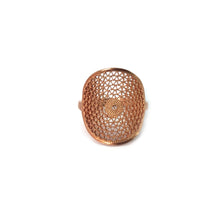 Aztec Filigree Ring -Gold Plated-