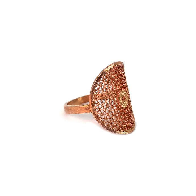 Aztec Filigree Ring -Rose Gold Plated-