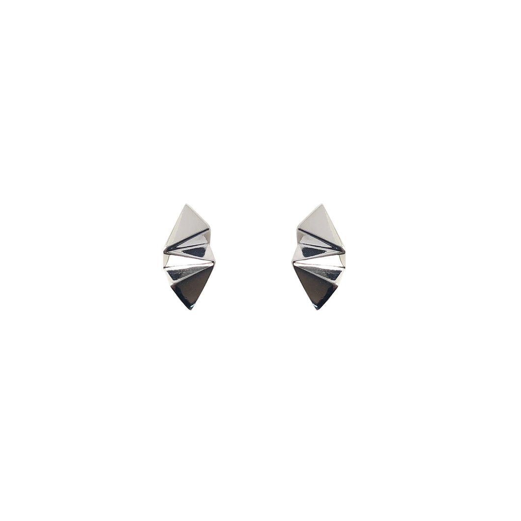 Silver Origami Studs