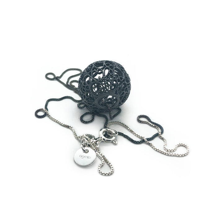 Unisex Oxidised Sugar Moon Pendant - Dual Color-