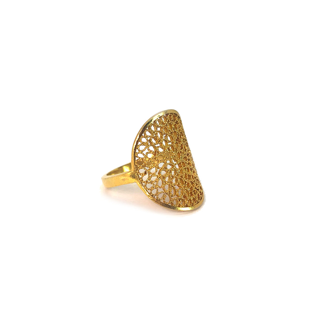 Sol Filigree Ring -Gold Plated-
