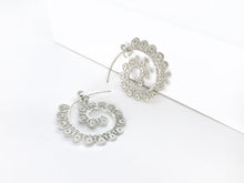 Silver Fern Frond Filigree Earrings