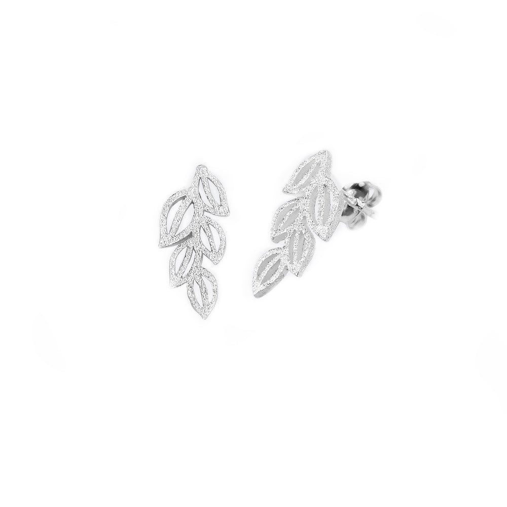Garden Of Delights Sterling Silver Matte Studs