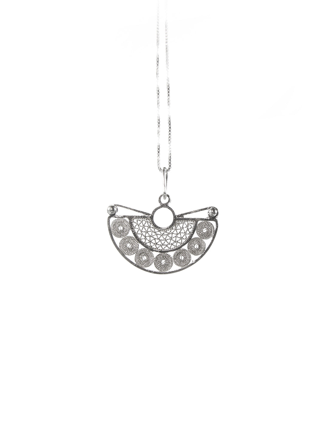 Half moon filigree pendant