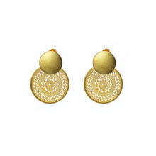 Load image into Gallery viewer, Aztec circles - Sterling silver Gold Plated filigree studs -
