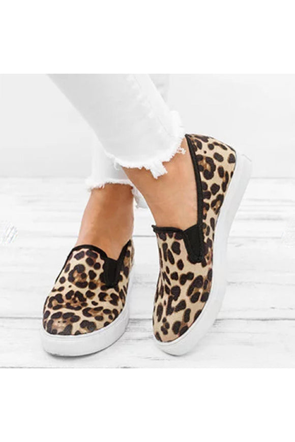 Ashley Leopard Print Slip On Shoe - 1uniqueboutiques