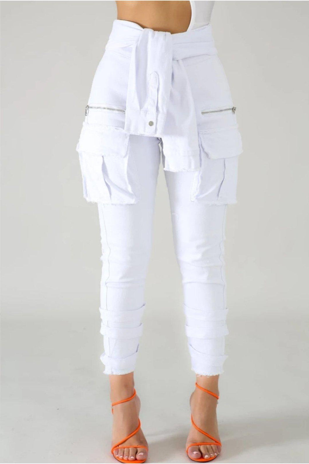 It's A Wrap Denim Jeans - 1uniqueboutiques