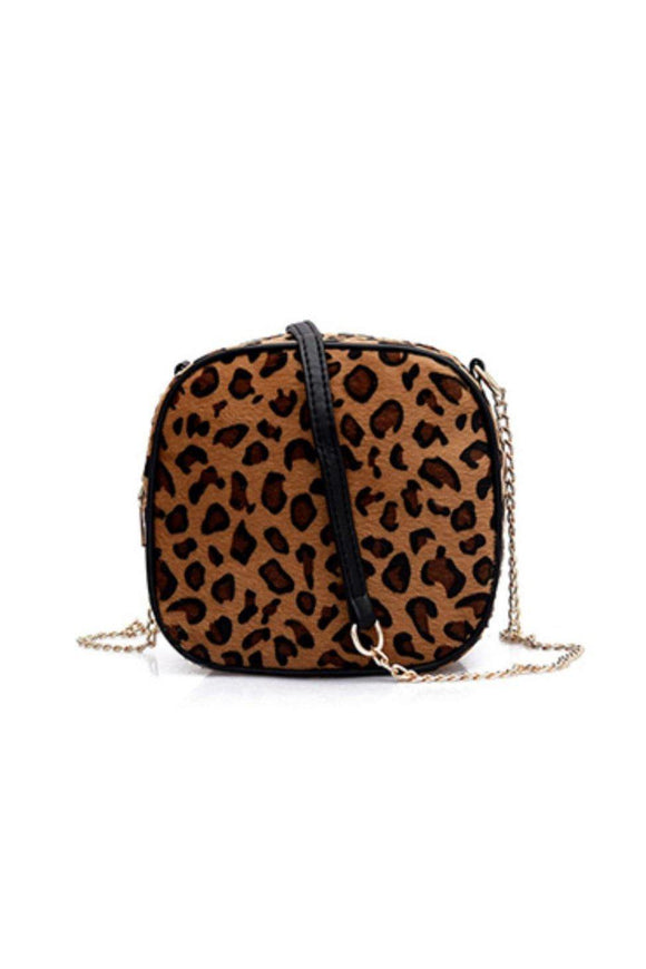 As Cute As Can Be Leopard Print Mini Handbag