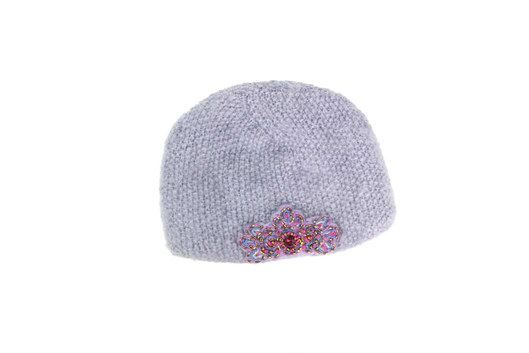 Paris Hat - winter hat glove - hand-knit - French Knot