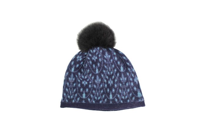 Eyelet Lace Hat - winter hat glove - hand-knit - French Knot