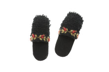 Fur Loop Slippers - winter hat glove - hand-knit - French Knot