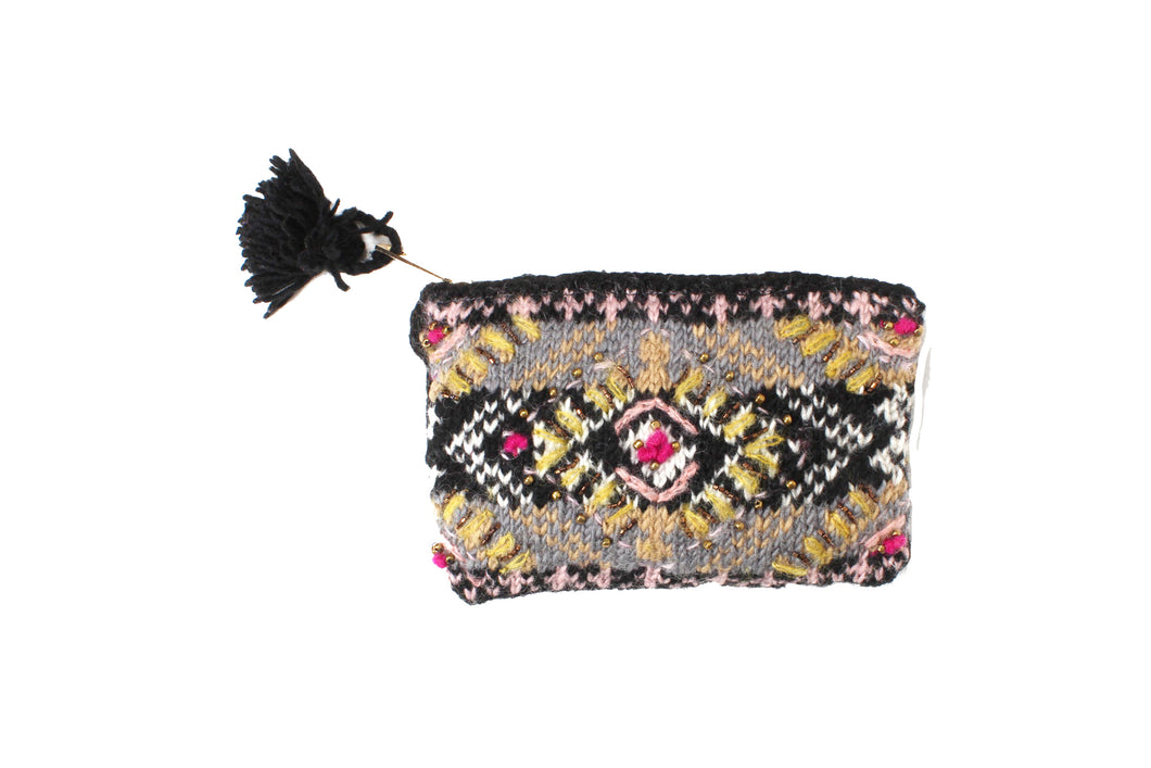 Cozy Ethnic Pouch - French Knot