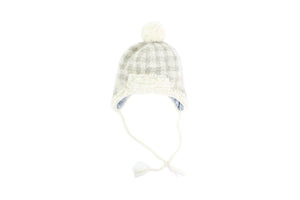 Plaid Earflap Hat