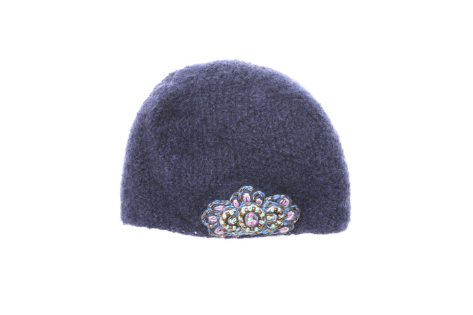 Paris - winter hat glove - hand-knit - French Knot