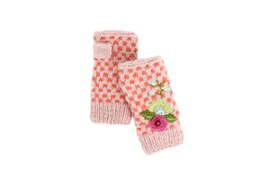 Gwen Check Hand Warmer - French Knot