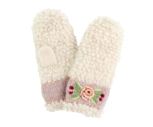 Embroidered Eskimo Mittens - French Knot