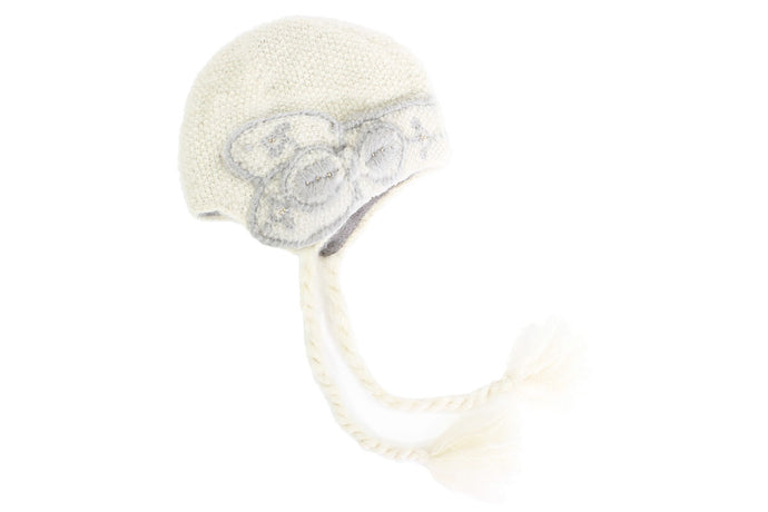 Embroidered Abby Cloche Earflap Hat - French Knot