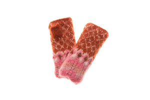 Florence Hand Warmer - winter hat glove - hand-knit - French Knot
