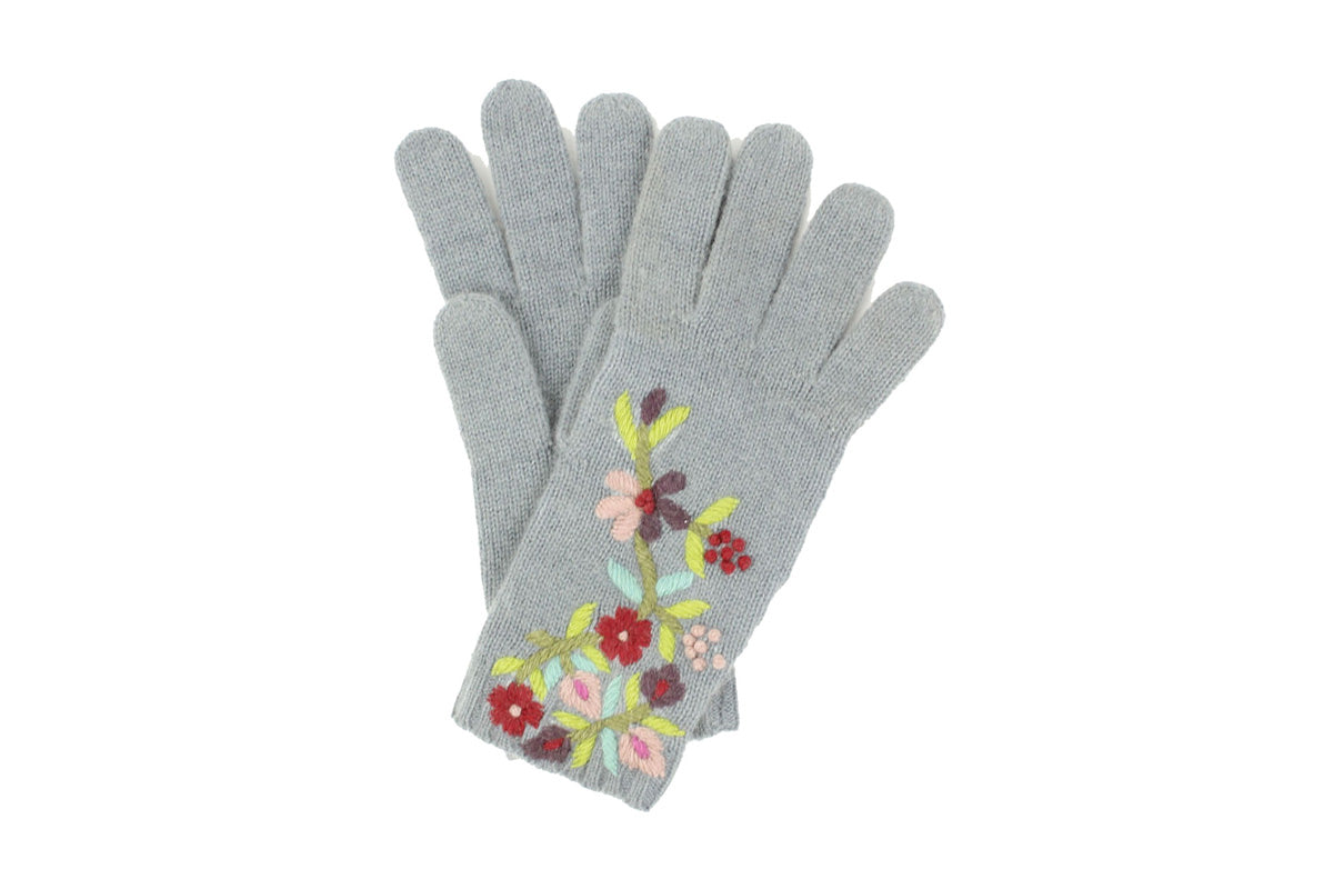 Vera Kashmir Gloves - winter hat glove - hand-knit - French Knot