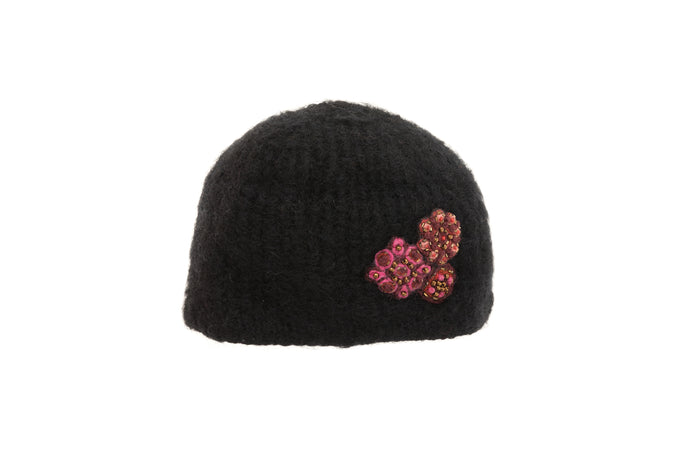 Brooches Hat - winter hat glove - hand-knit - French Knot