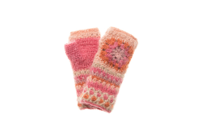 Crochet Hand Warmer - French Knot