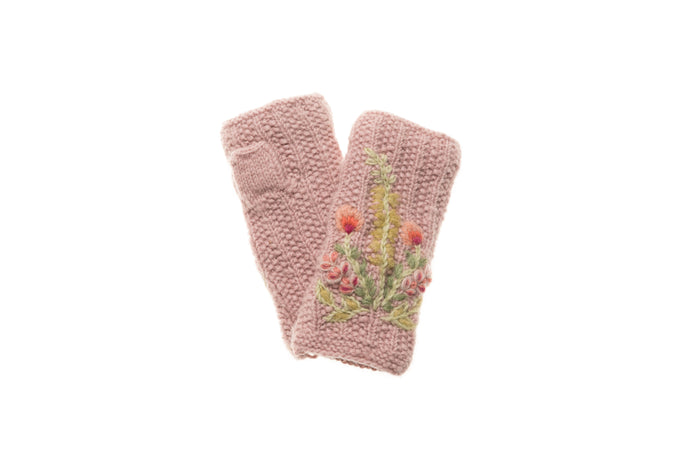 Meadow Hand Warmer - winter hat glove - hand-knit - French Knot
