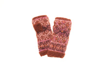 Cozy Ethnic Hand Warmer - winter hat glove - hand-knit - French Knot