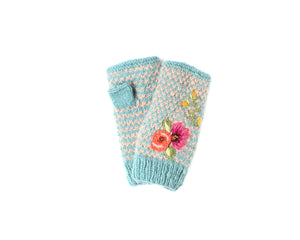 Gwen Hand Warmer - winter hat glove - hand-knit - French Knot