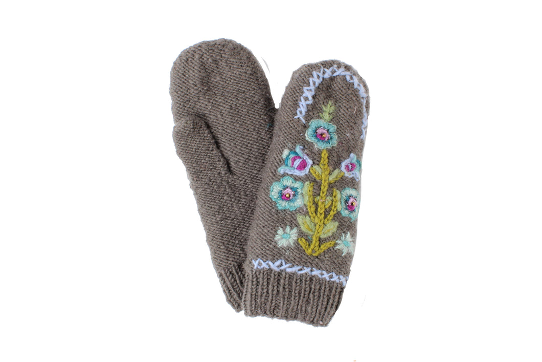 Hazel Mitten - winter hat glove - hand-knit - French Knot