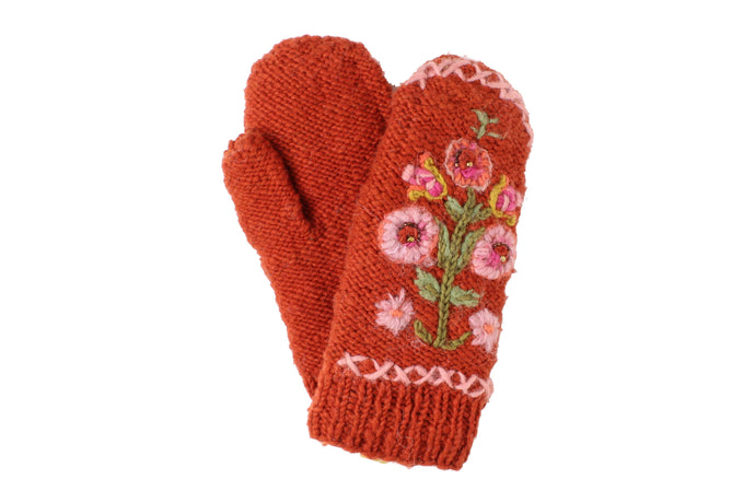 Hazel Mittens - winter hat glove - hand-knit - French Knot