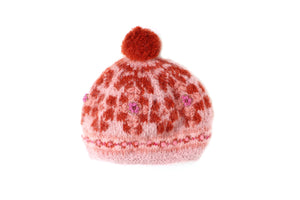 Molly Beret - winter hat glove - hand-knit - French Knot