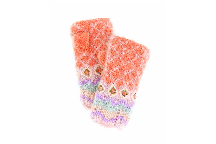 Florence Hand Warmers - winter hat glove - hand-knit - French Knot