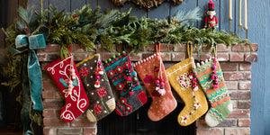 Evergreen Stocking - French Knot