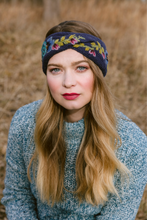 Flower Crown - winter hat glove - hand-knit - French Knot