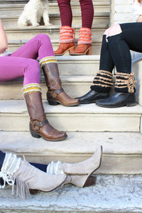 Trim Boot Cuff Topper - French Knot